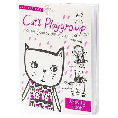 Wee Gallery - Cat's Playgroup - kolorowanka po angielsku
