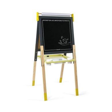 Janod - Duża Drewniana Tablica Grafitowa z 14 Akcesoriami 3+