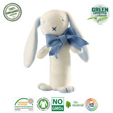 Maud'N'Lil - The Bunny Stick Rattle Grzechotka Organiczna Miękka Oscar