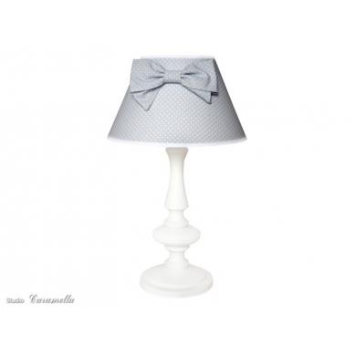 Caramella - Lampka Stojąca Szara z Kokardą