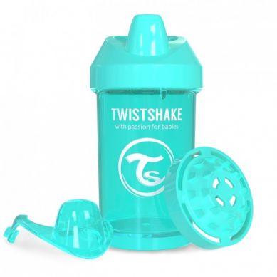 Twistshake - Kubek Niekapek z Mikserem do Owoców 300ml Turkusowy