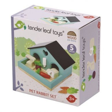 Tender Leaf Toys - Drewniane Figurki do Zabawy Króliczki 3+