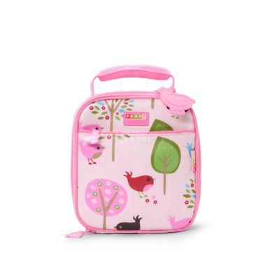 Penny Scallan - Kwadratowy Lunchbox Różowy w Ptaszki