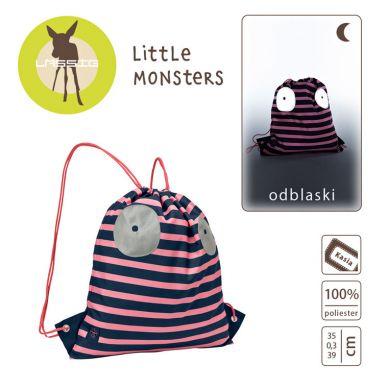 Lassig - Plecak Worek Little Monster Koral