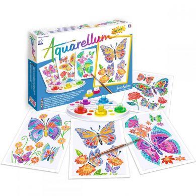Sentosphere - Aquarellum Motyle i Kwiaty 4 Obrazy i Farby