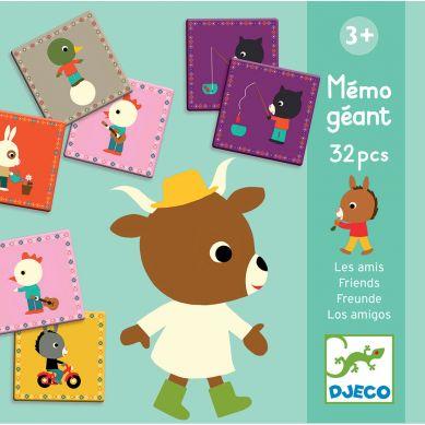 Djeco Memo Gigant Przyjaciele (32 części)