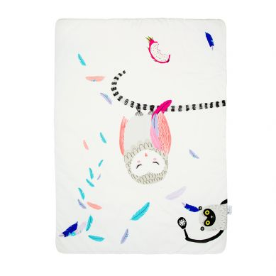 Maki Mon Ami - Dwustronny Koc z Sową Polą (M)