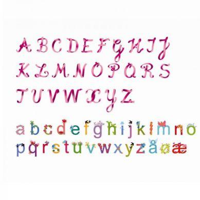Djeco - Naklejki Dekoracyjne Alfabet dla Dziewczynek