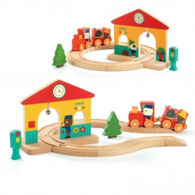 Djeco - Drewniana Mini Stacja
