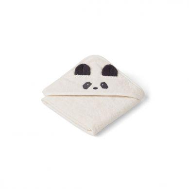 Liewood - Ręcznik z Kapturem Panda Creme de la Creme 70cm x 70cm