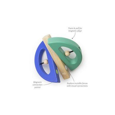 Tegu - Drewniane Klocki Magnetyczne Drewniane BABY & TODDLER Swivel Bug Teal/Blue 6m+