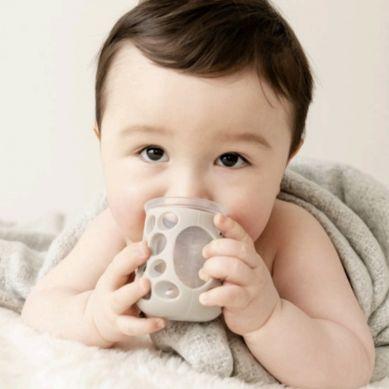 CogniKids - Natural Drinking Cup 2 Sensoryczne Kubeczki do Nauki Picia dla Niemowląt Slate Blush