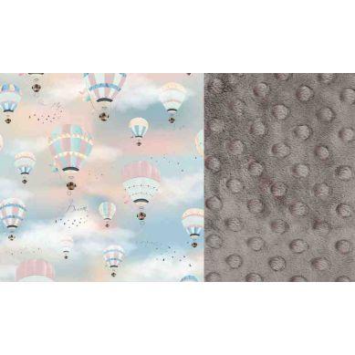 La Millou - Mufka do Wózka Vintage Ballons Grey