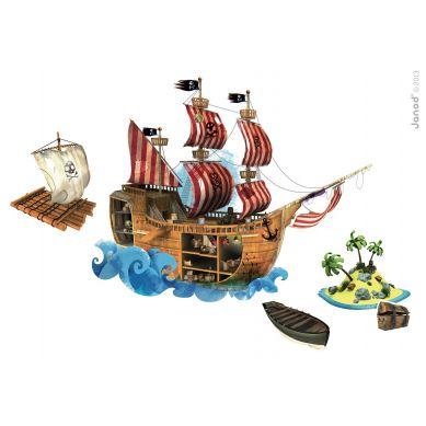 Janod Magnetyczna Naklejka Piraci