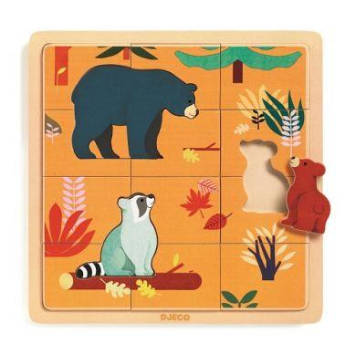Djeco - Edukacyjne Puzzle Drewniane Kanada