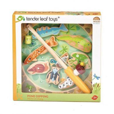 Tender Leaf Toys - Drewniana Gra Zręcznościowa Łowienie w Stawie 3+