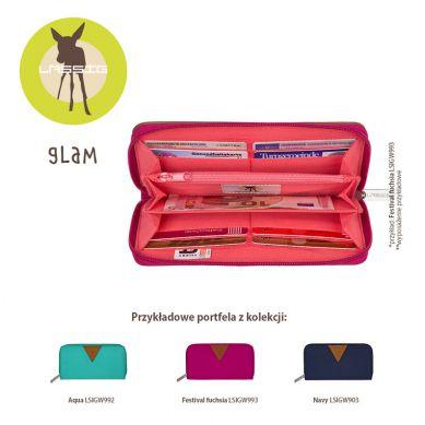 Laessig - Portfel Glam Label Signature Aqua