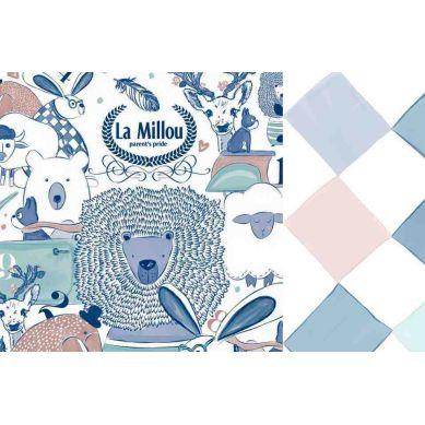 La Millou - Komplet Pościeli M La Millou Family & Chessboard