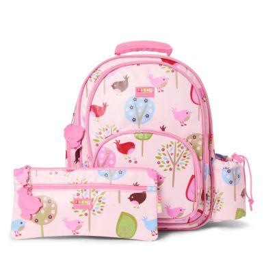Penny Scallan - Duży Plecak z Kieszeniami Różowe Ptaszki