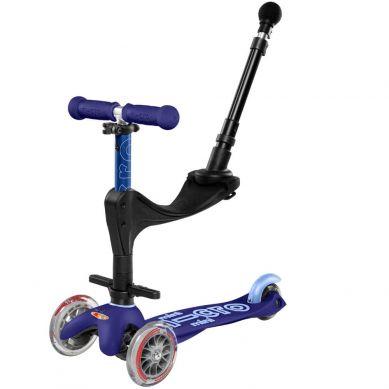 Micro - Hulajnoga Mini Baby Seat 3w1 Deluxe Plus Blue 1+