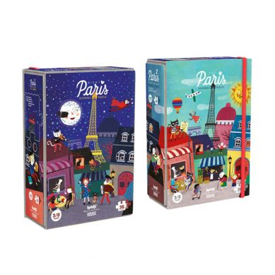 Londji - Dwustronne Puzzle Paris Night&Day