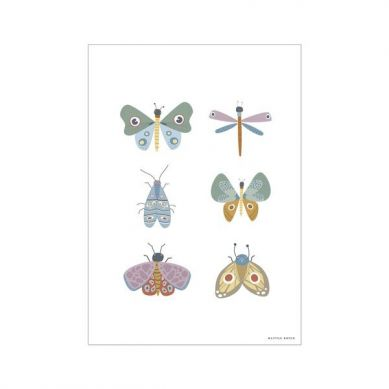 Little Dutch - Plakat A3 Motyle