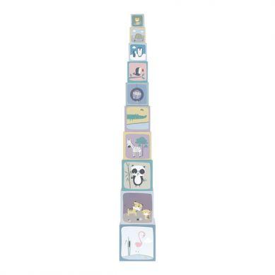 Little Dutch - Kartonowa Wieża 10 Elementów ZOO