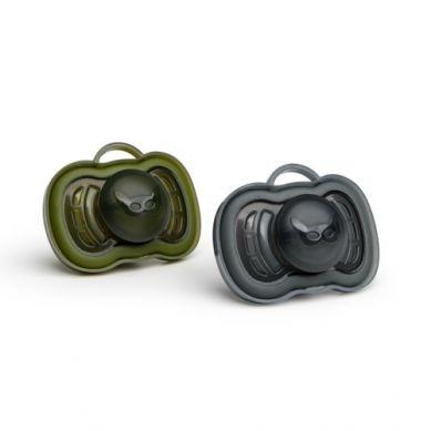 Herobility - Smoczek Uspokajający HeroPacifier 6m+ Czarny/zielony 2 szt.