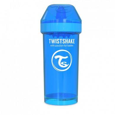Twistshake - Kubek Niekapek z Mikserem do Owoców 360ml Niebieski