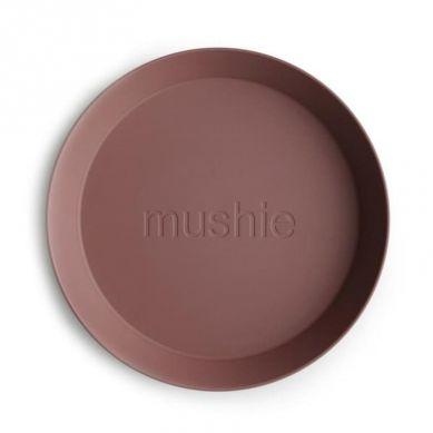 Mushie - 2 Talerzyki Round Woodchuck