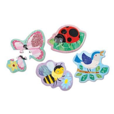 Mudpuppy - Sensoryczne Puzzle Ogród