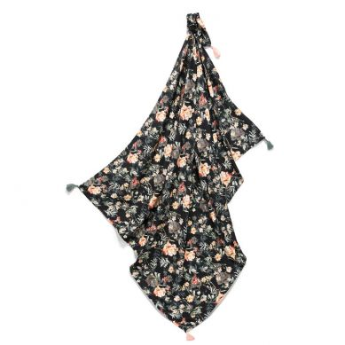 La Millou - Otulacz Bambusowy Mgiełka Fringe - King Size - Blooming Boutique Noir