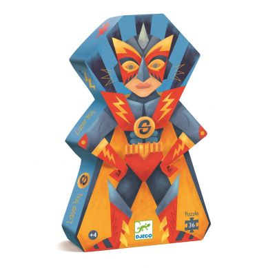 Djeco - Puzzle Laserowy Chłopiec 36el.