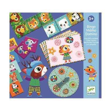 Djeco - Gry Edukacyjne Bingo, Memo, Domino