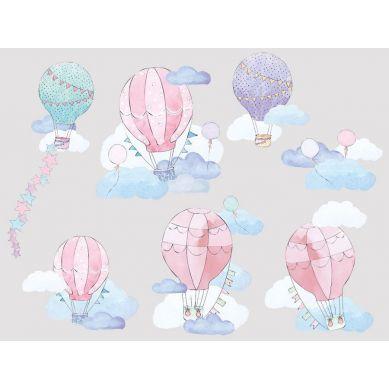 Pastelowelove - Naklejka na Ścianę Balony Różowe