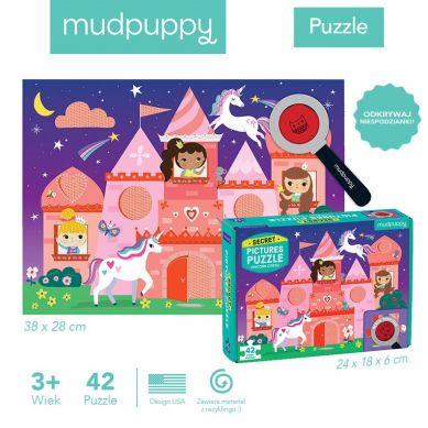 Mudpuppy - Puzzle z Ukytymi Obrazkami Zamek Jednorożca 42el 3+