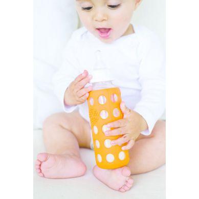 Lifefactory - Butelka Szklana dla Niemowląt 250ml Orange