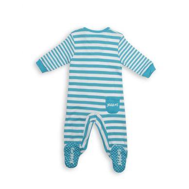Juddlies - Pajacyk Scuba Blue Stripe 3-6m