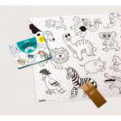 Omy - Mini Zestaw do Kolorowania Zwierzęta