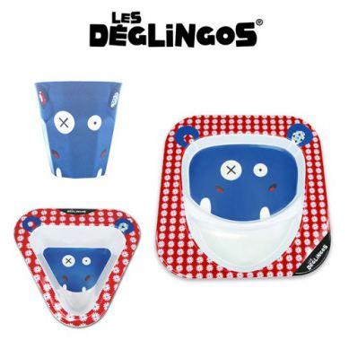 Les Deglingos - Zestaw 3 częściowy z Melaminy Hipopotam Hippipios