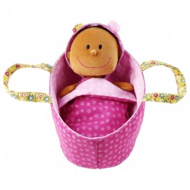 Lilliputiens - Szmaciana Lalka w Nosidle Baby Zoe