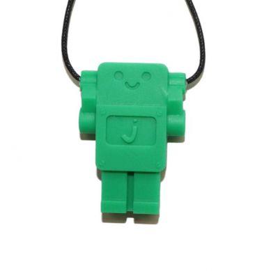 Jellystone - Wisiorek Silikonowy Gryzak Robot Zielony