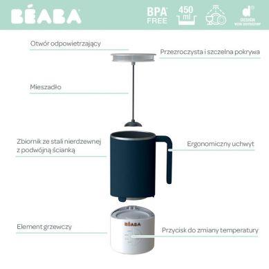 Beaba - Milk Prep® Ekspres do Mlecznych Napojów White/Grey