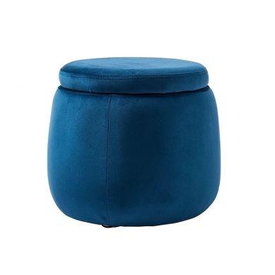 Kids Concept - Puf Okrągły Velvet Blue