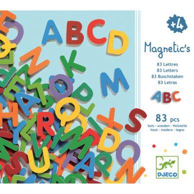 Djeco - 83 Kolorowe literki magnetyczne