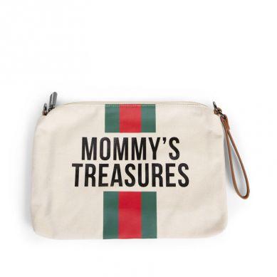 Childhome - Torebka Mommy's Treasures Paski Zielono-Czerwone