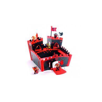 Djeco - Drewniany Zamek Czerwony