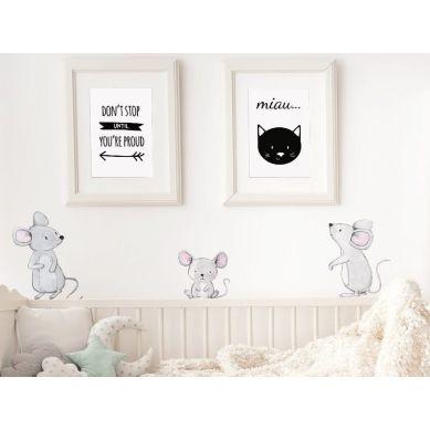Pastelowelove - Naklejka na Ścianę Myszki