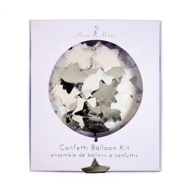 Meri Meri - Zestaw Balonów Dekoracyjnych Confetti Silver