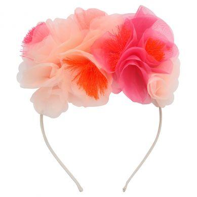Meri Meri - Opaska Do Włosów Bukiet Kwiatów Różowy